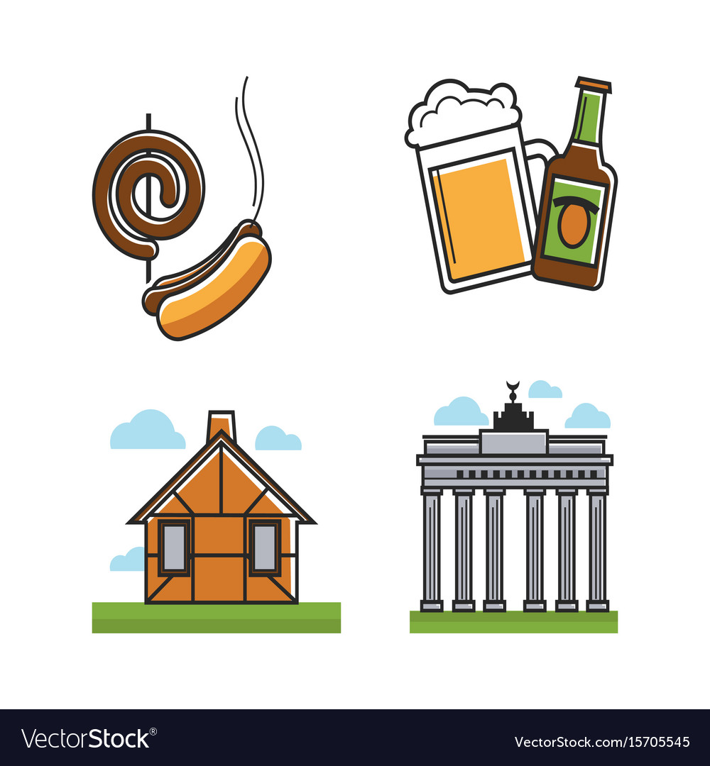 German attributes set with building types