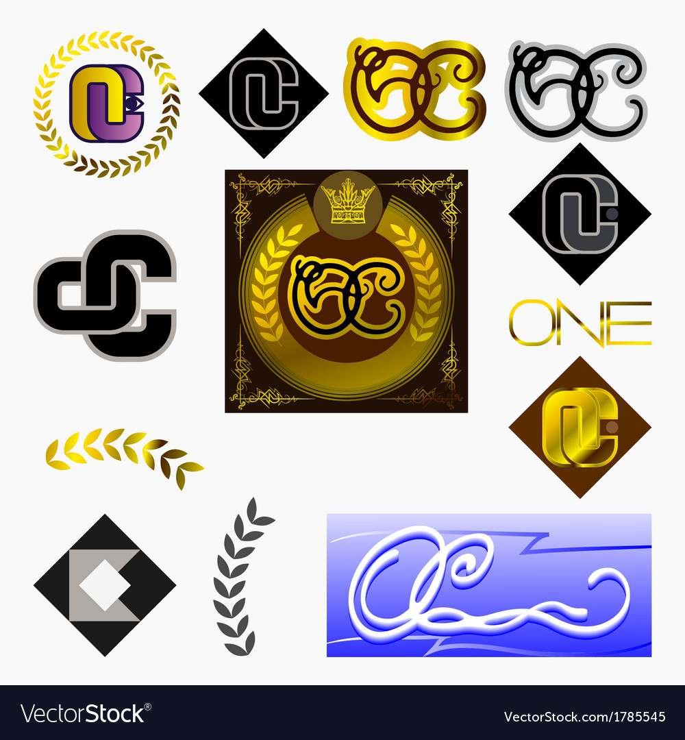 Monogram Oc Royalty Free Vector Image Vectorstock