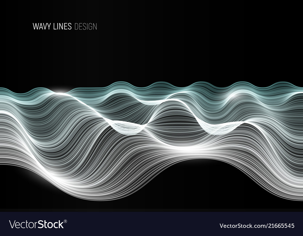 Wavy lines abstract banner design template