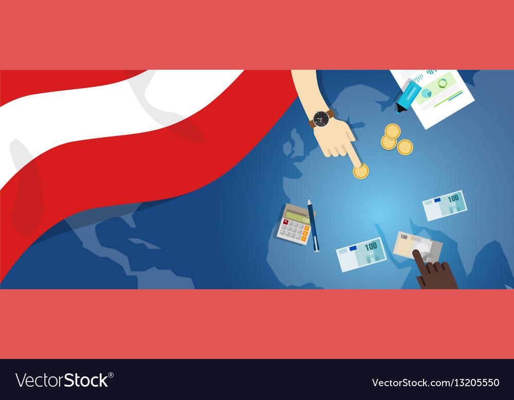 Austria economy fiscal money trade concept
