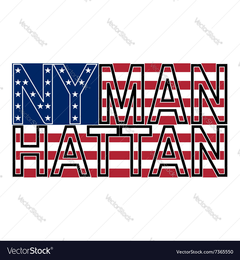 NYC Manh color vector image