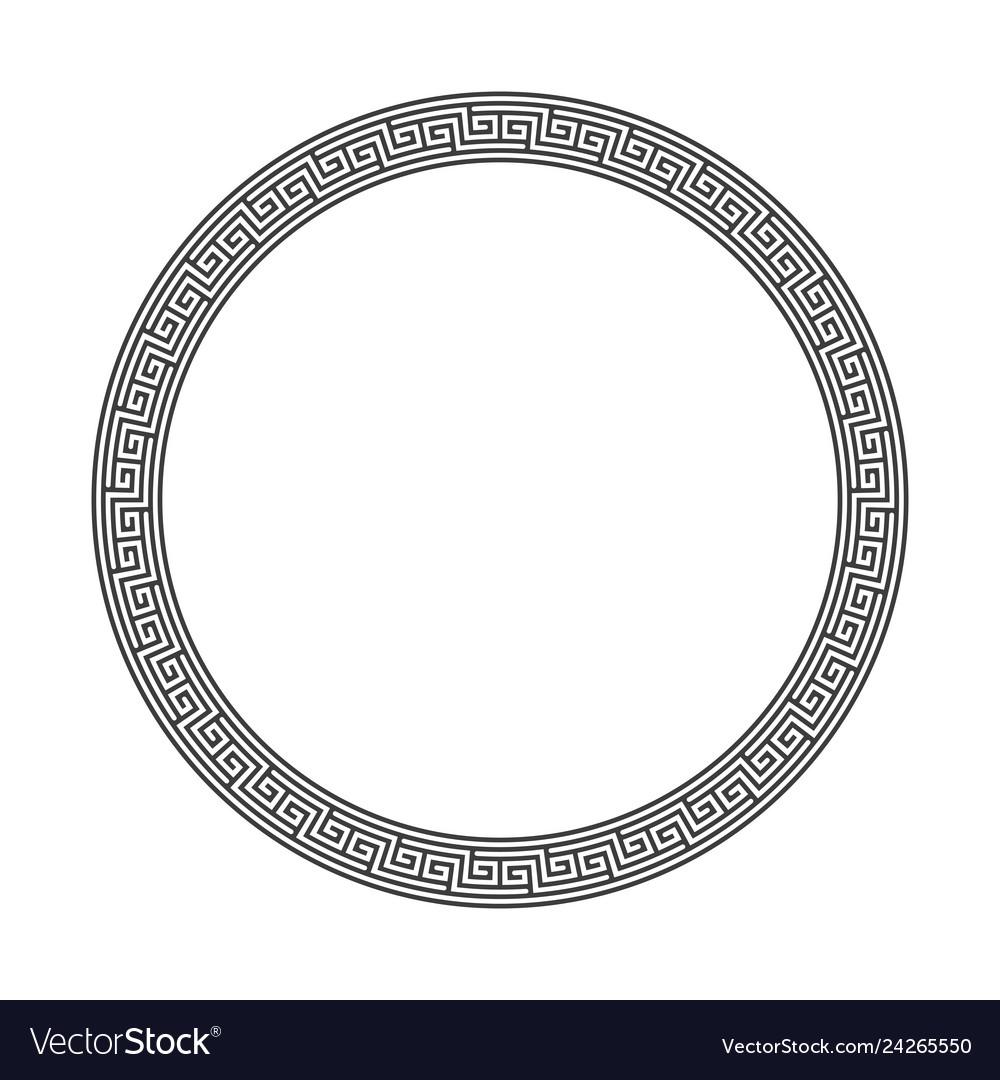 Round frame greek style