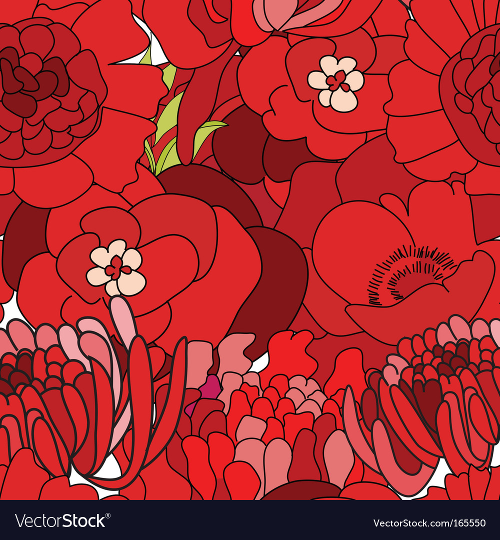 Seamless wallpapers vector image