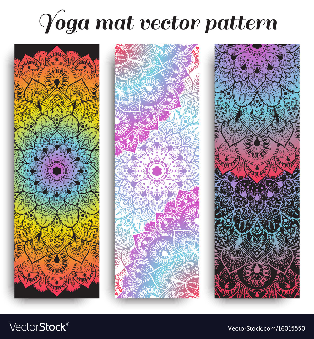 cheap lowest discount special selection of Set of colorful yoga mat pattern
