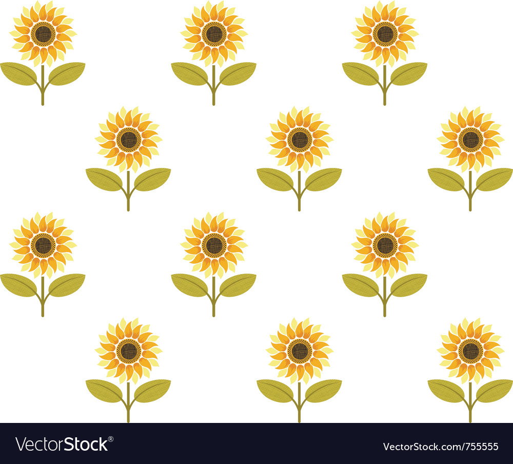 Download Cute sunflower seamless pattern Royalty Free Vector Image