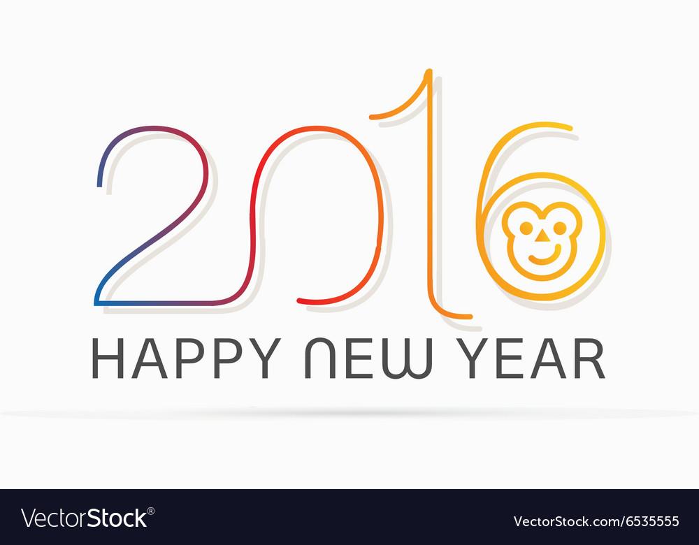 Happy New Yearwith monkey