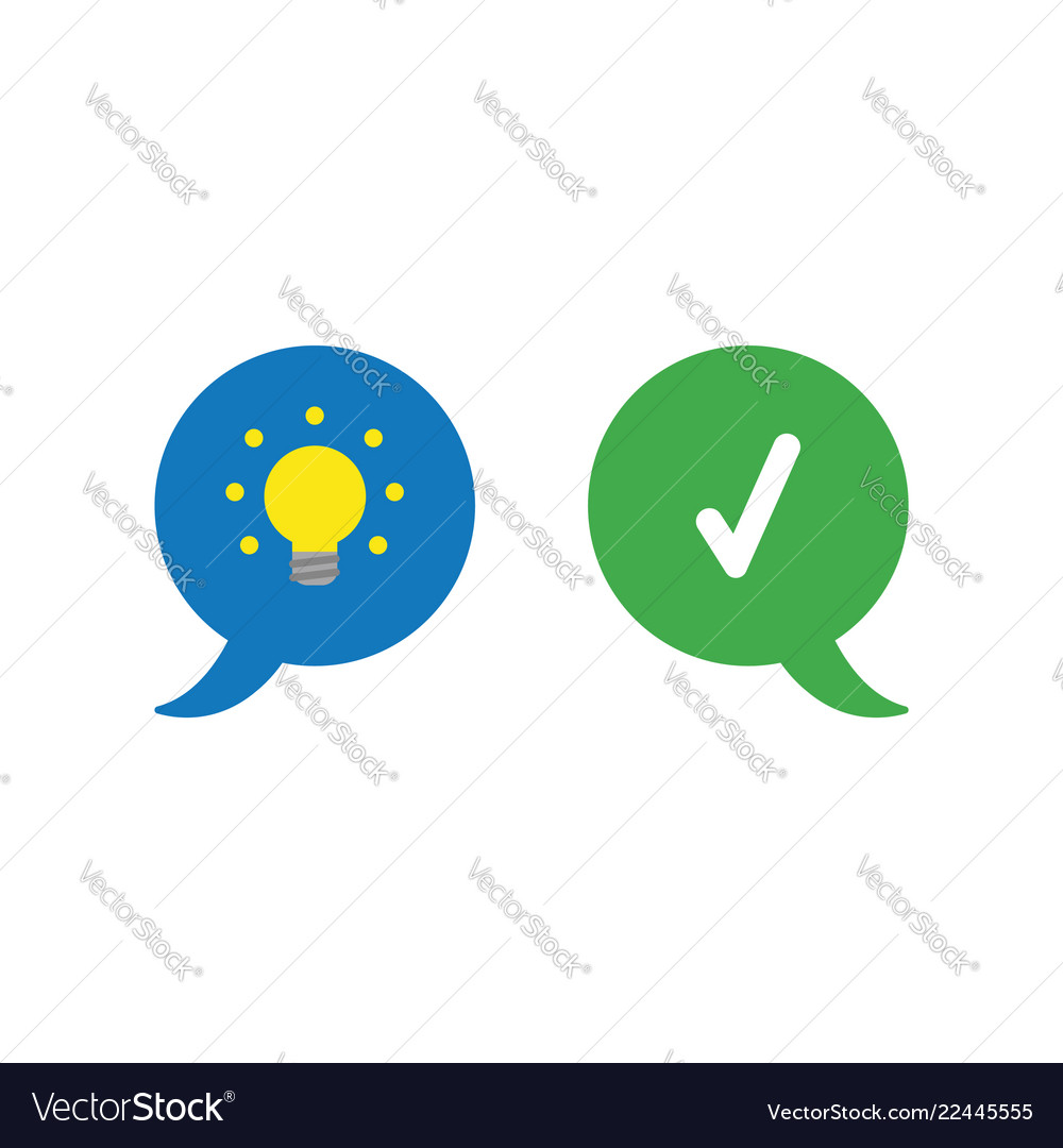 Icon concept of two speech bubbles with glowing