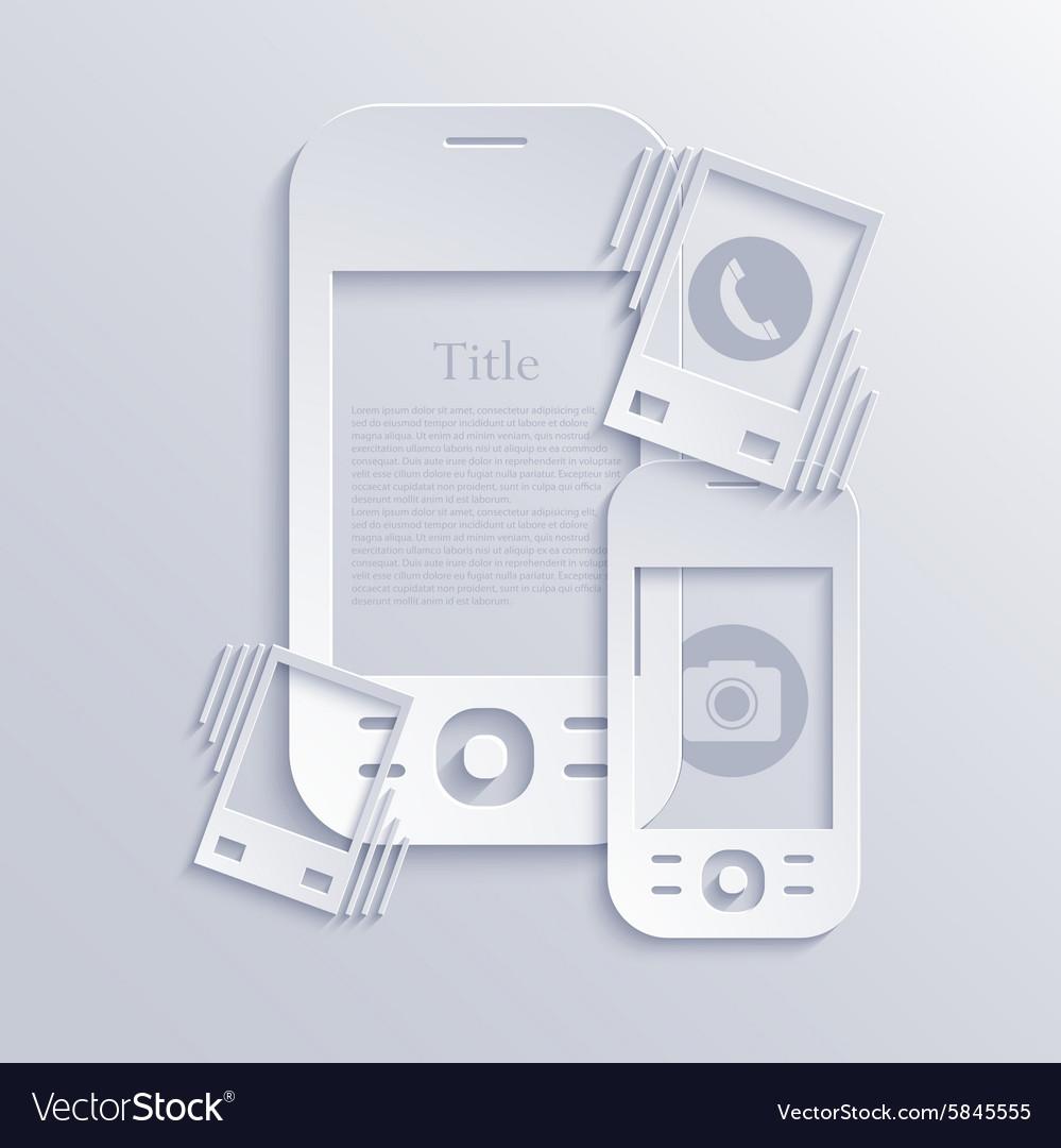 Modern light smartphones icons