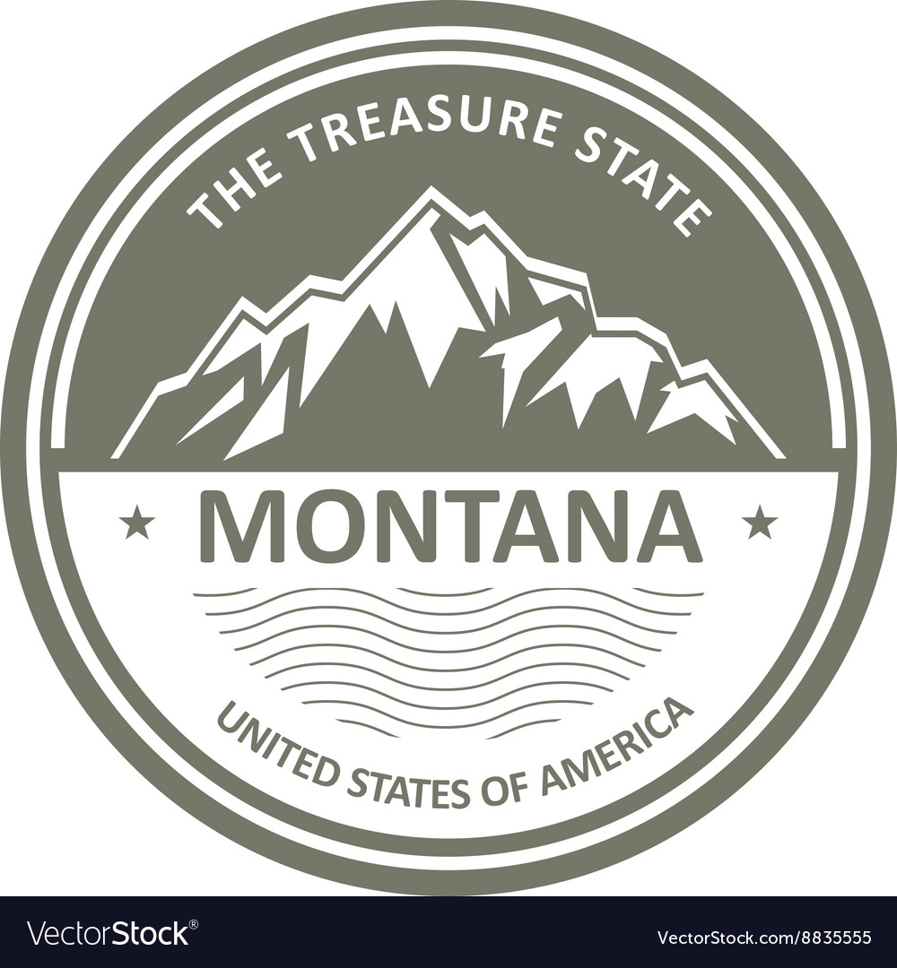 Montana Mountains - Snowbound mountain label