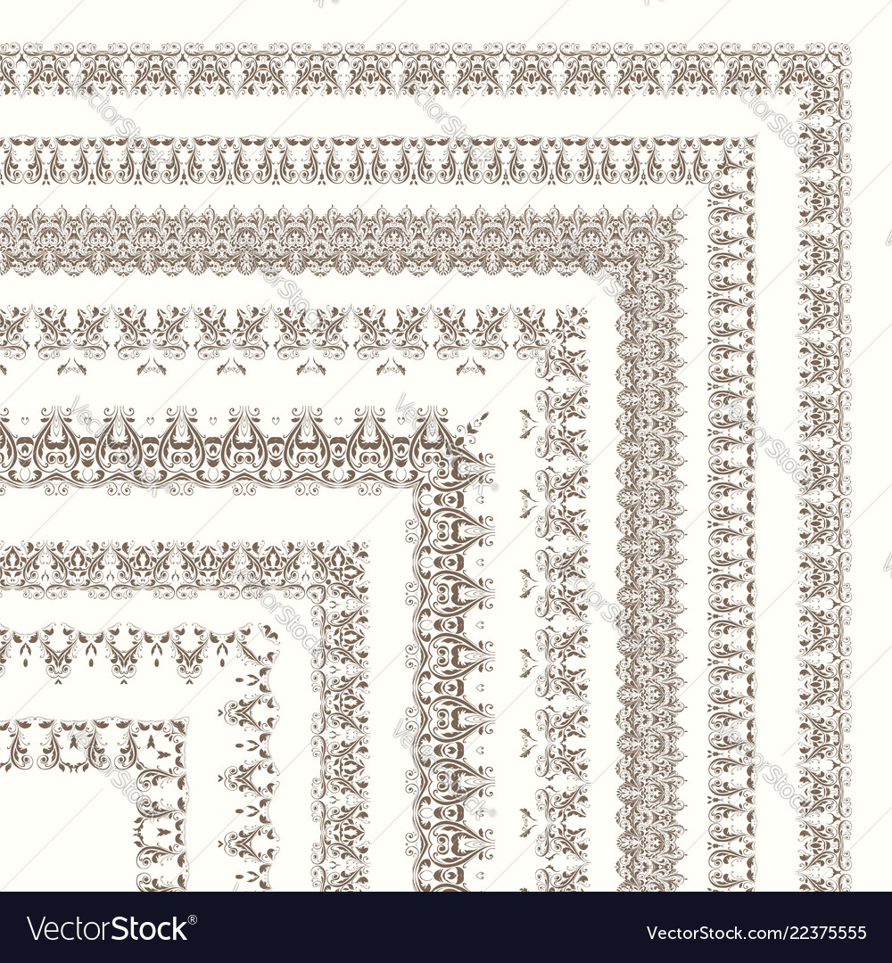 Set of ornate frames and borders