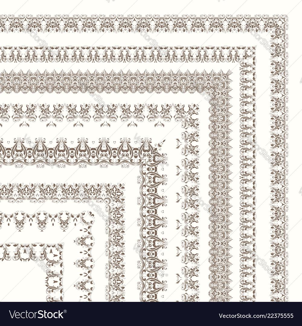 Set ornate frames and borders
