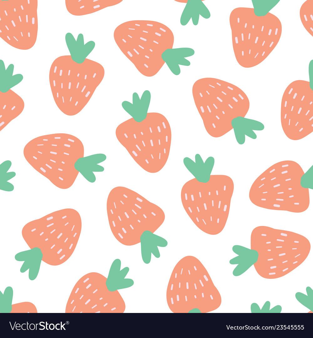 Strawberry background seamless pattern