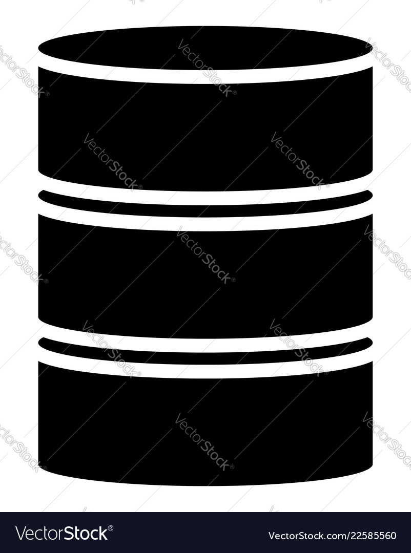 Barrel shape silhouettes simple 3d barrel icons