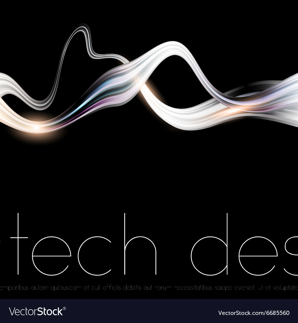 Black Tech Background vector image