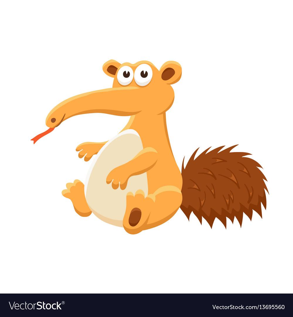 Cartoon baby animal isolated