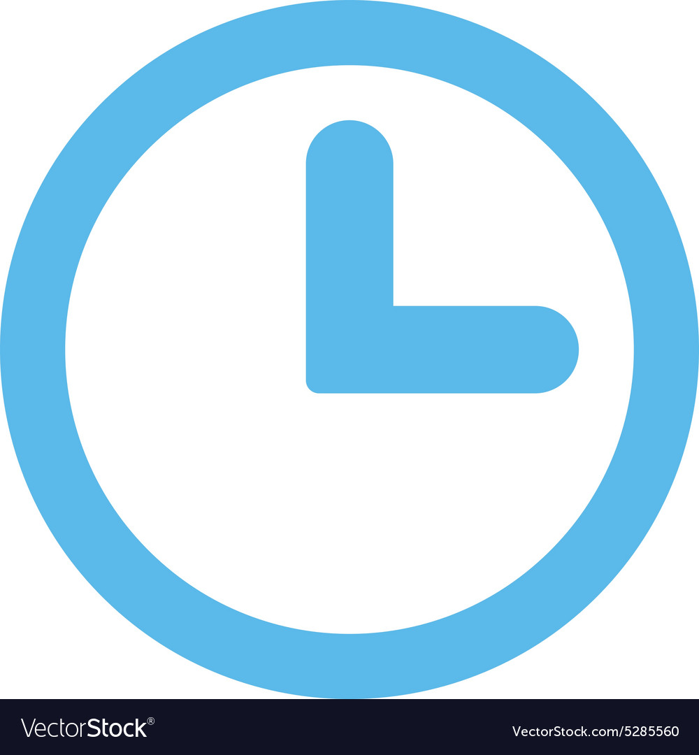 Clock flat blue color icon
