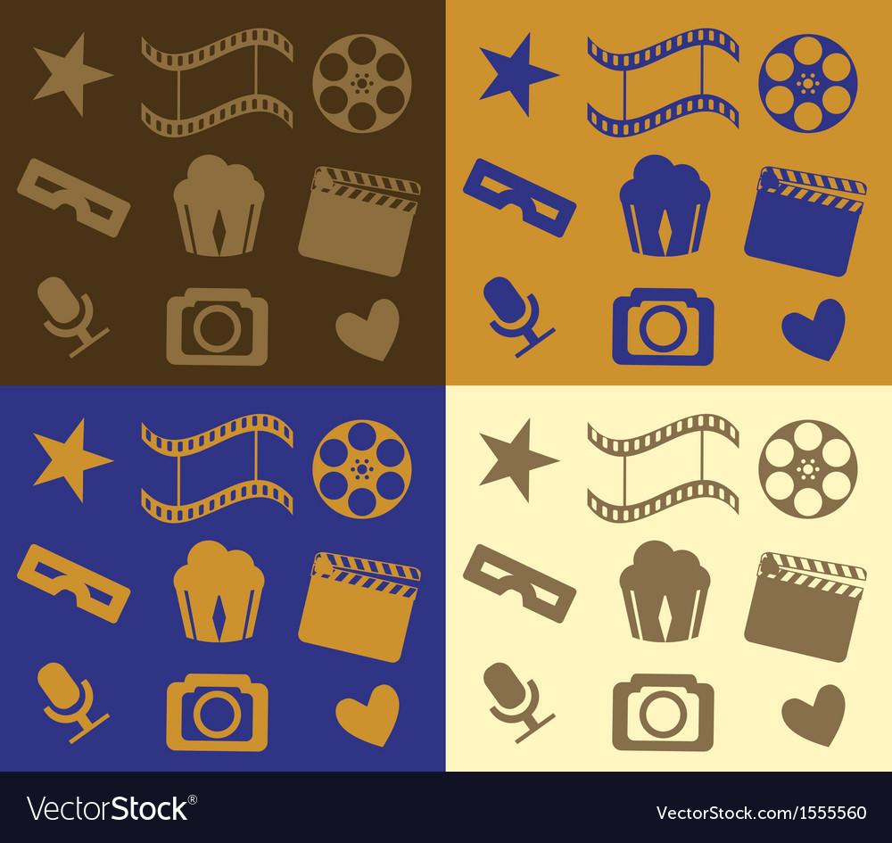 Colorful cinema patterns