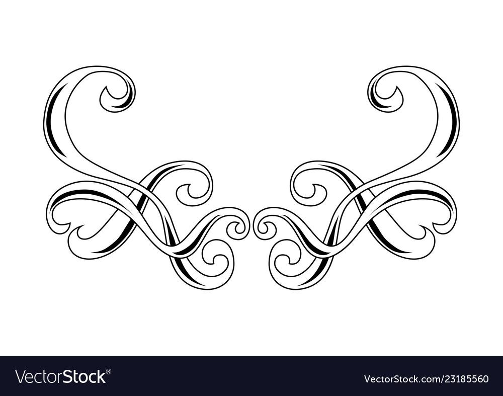Decorative swirl border ornament