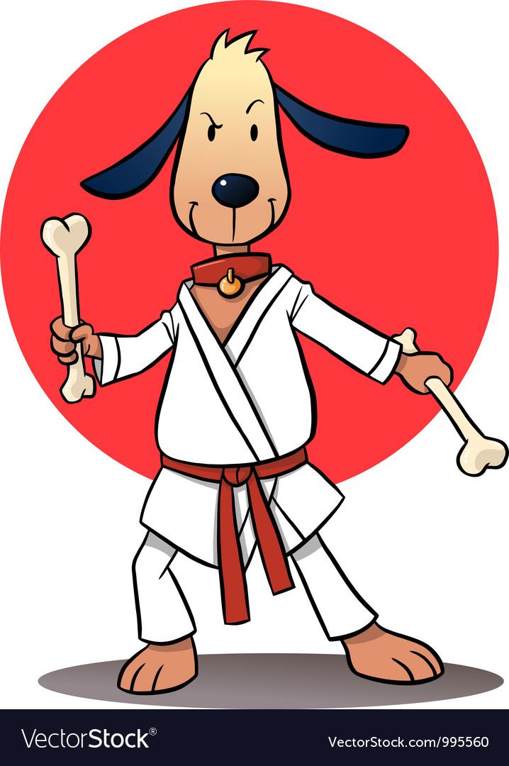 Karate Dog Cartoon