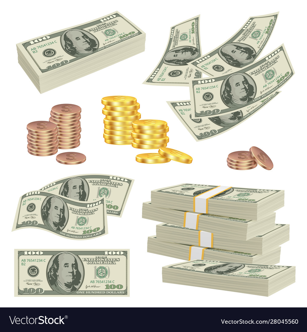 Money realistic investment cash dollars banknotes
