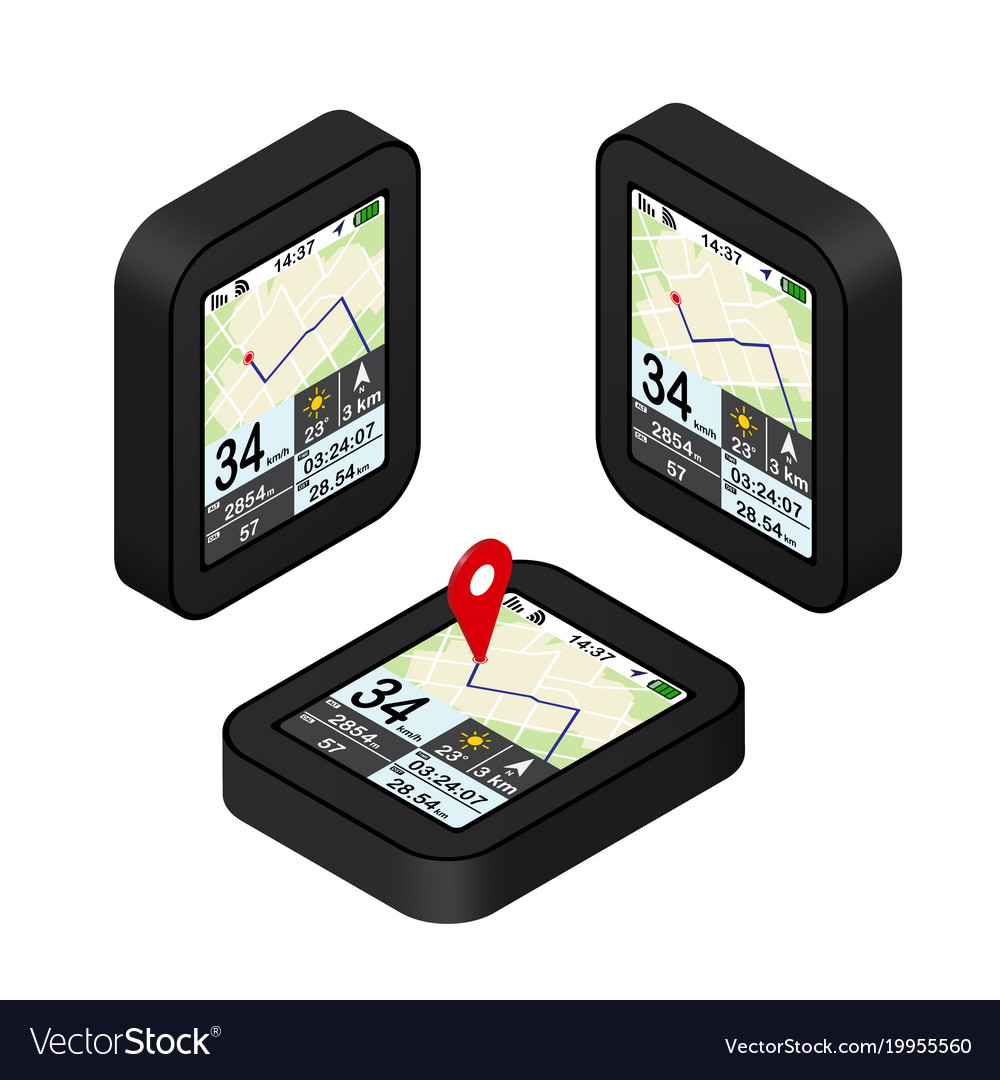 Red pointer on map gps navigation concept