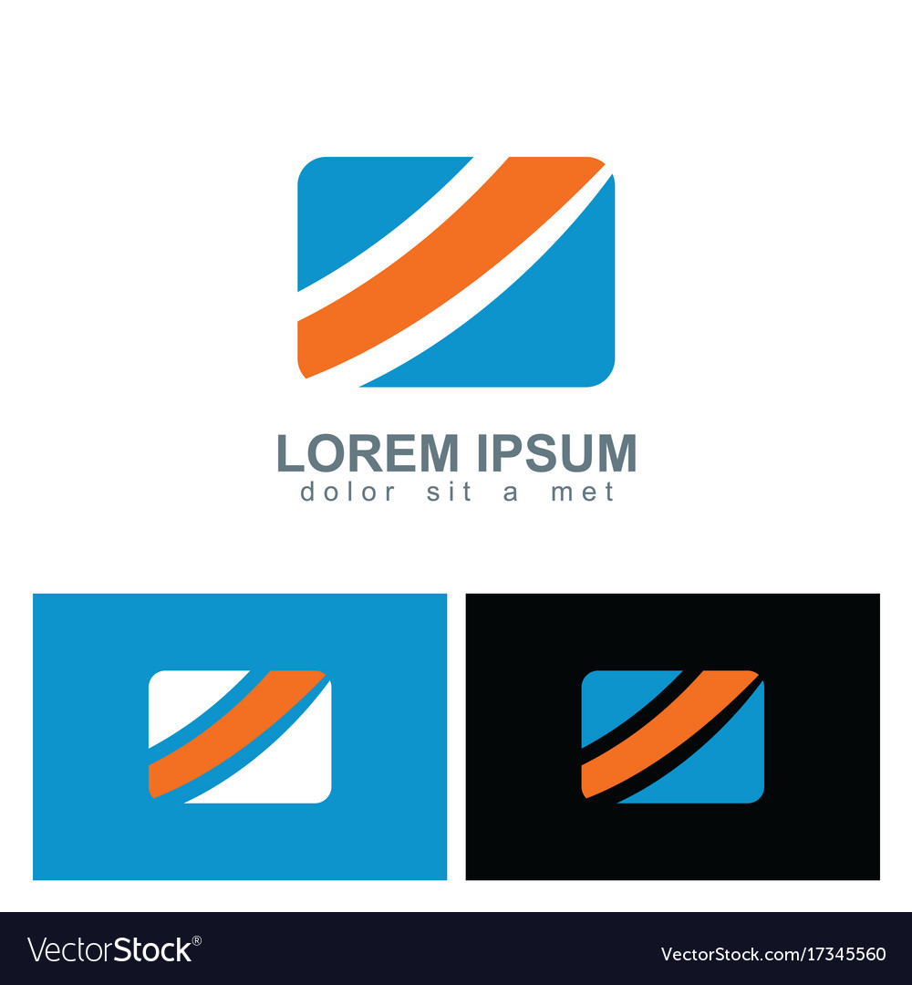 Square shape colored business logo