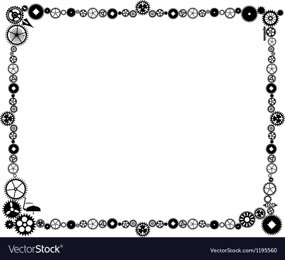 Steampunk frame made of cogs Royalty Free Vector Image