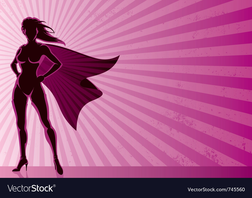 Super heroine background vector image