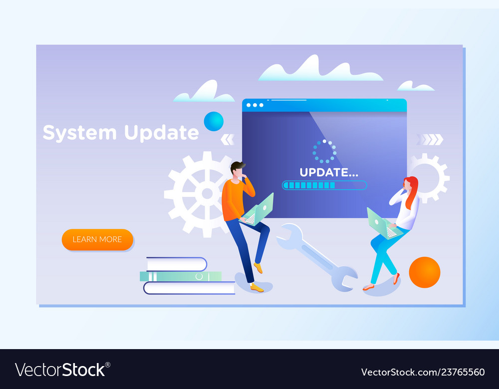 System update people update operation system can