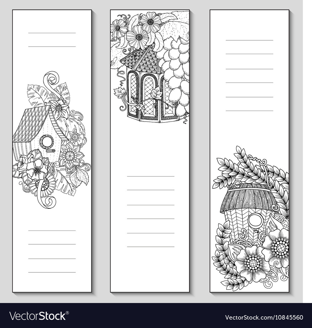Template design bookmarks isolated Coloring page