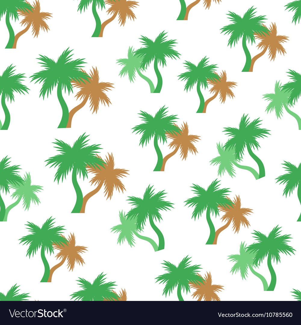 Tropical palm trees seamless pattern