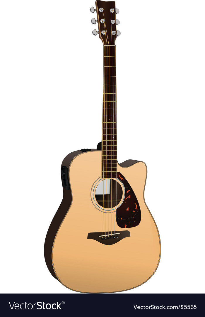 acoustic guitar royalty free vector image vectorstock rh vectorstock com acoustic guitar headstock vector acoustic guitar vector free download