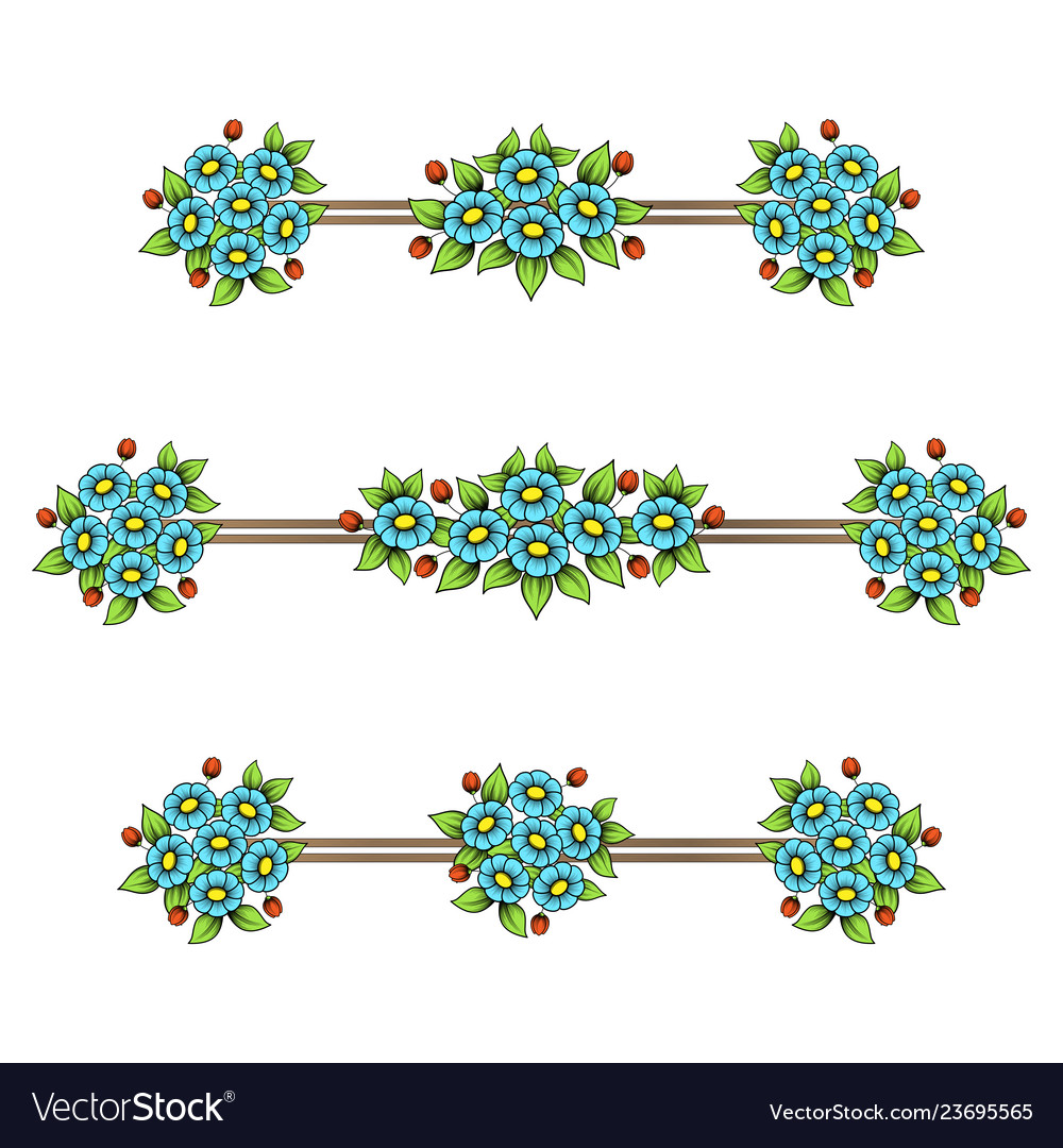Daisy flowers color linear patterns