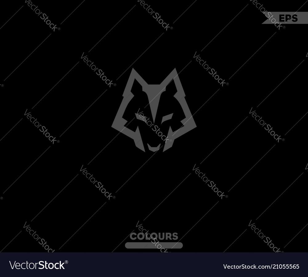 Dark wolf logo