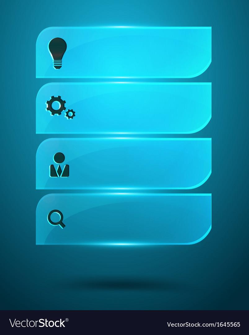 Glass Infographics Elements