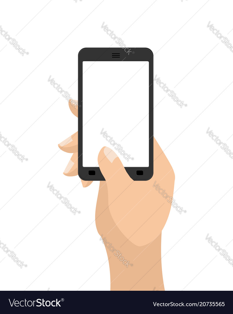 Hand and mobile phone man is holding smartphone