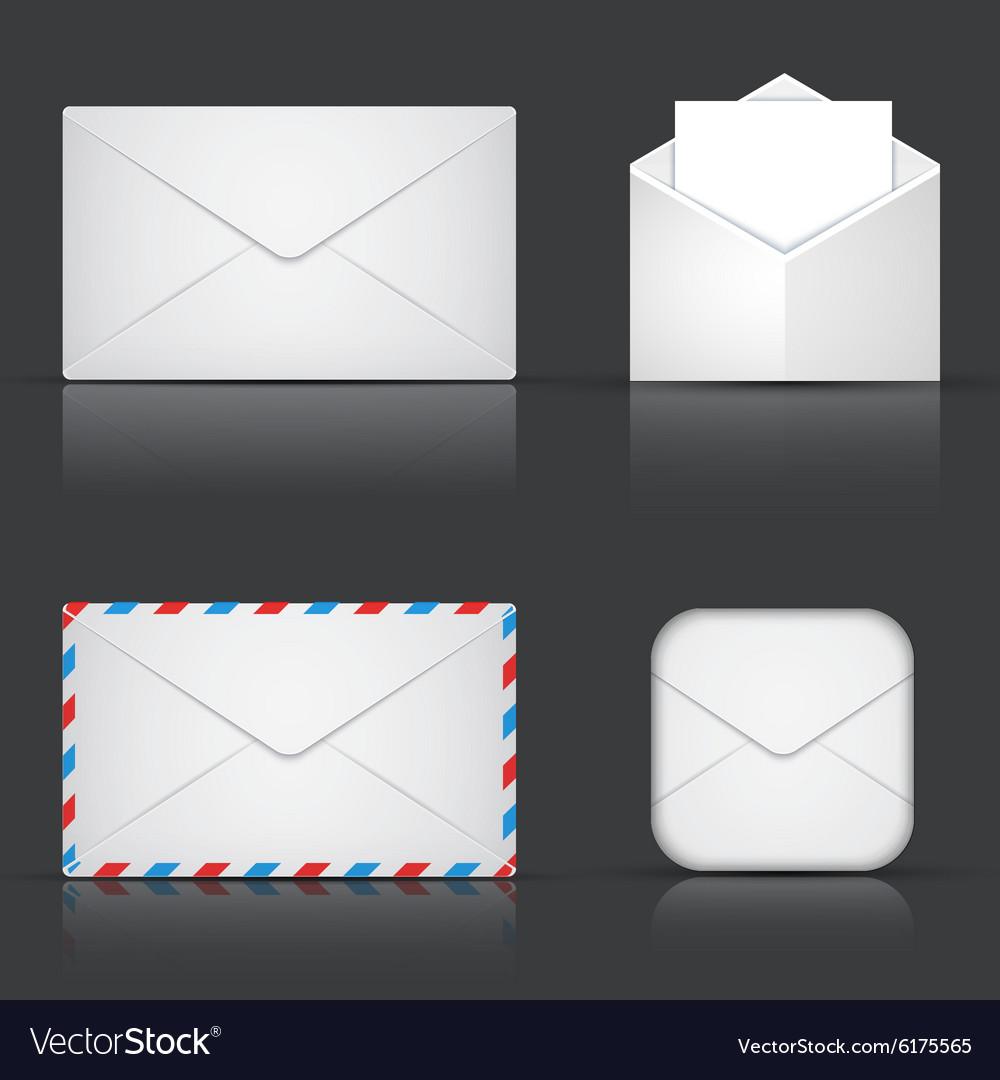 Modern envelope or mail set