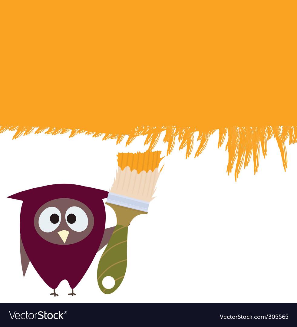 Owl and brush