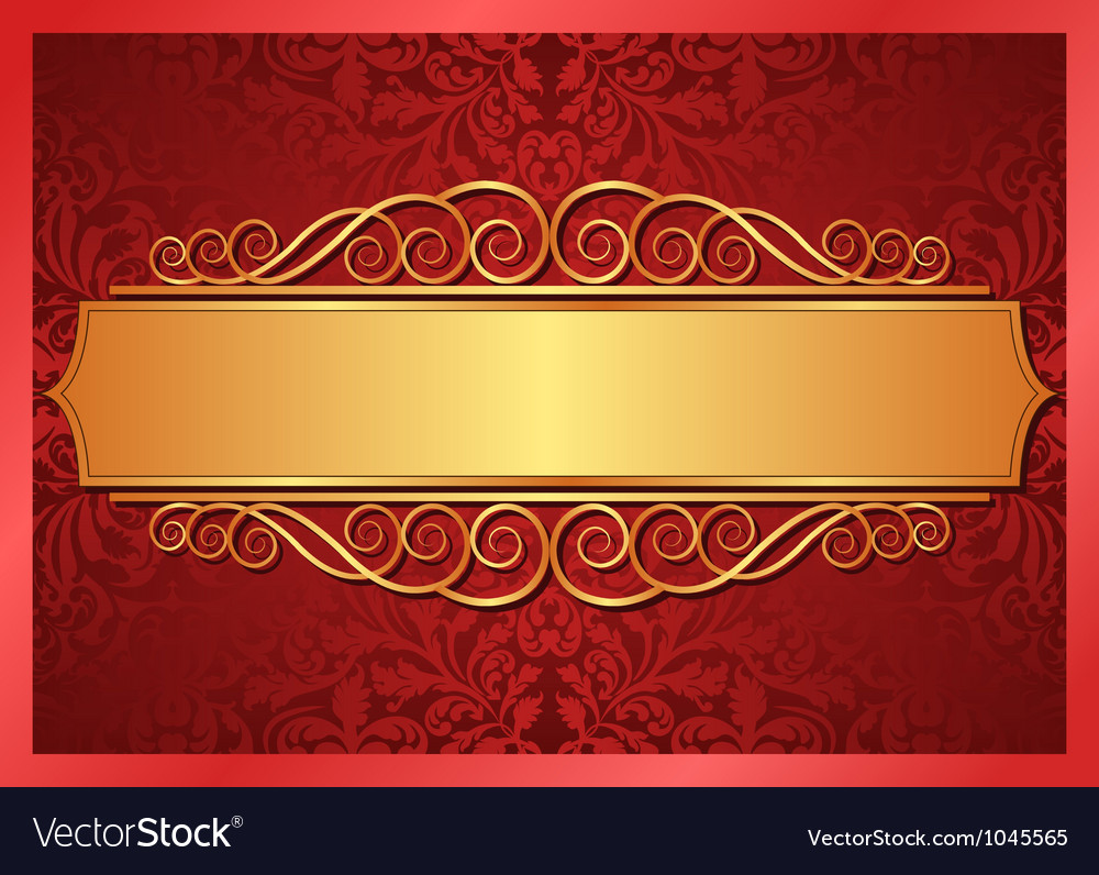 Free Illustration Background Christmas Red Gold: Red And Gold Background Royalty Free Vector Image