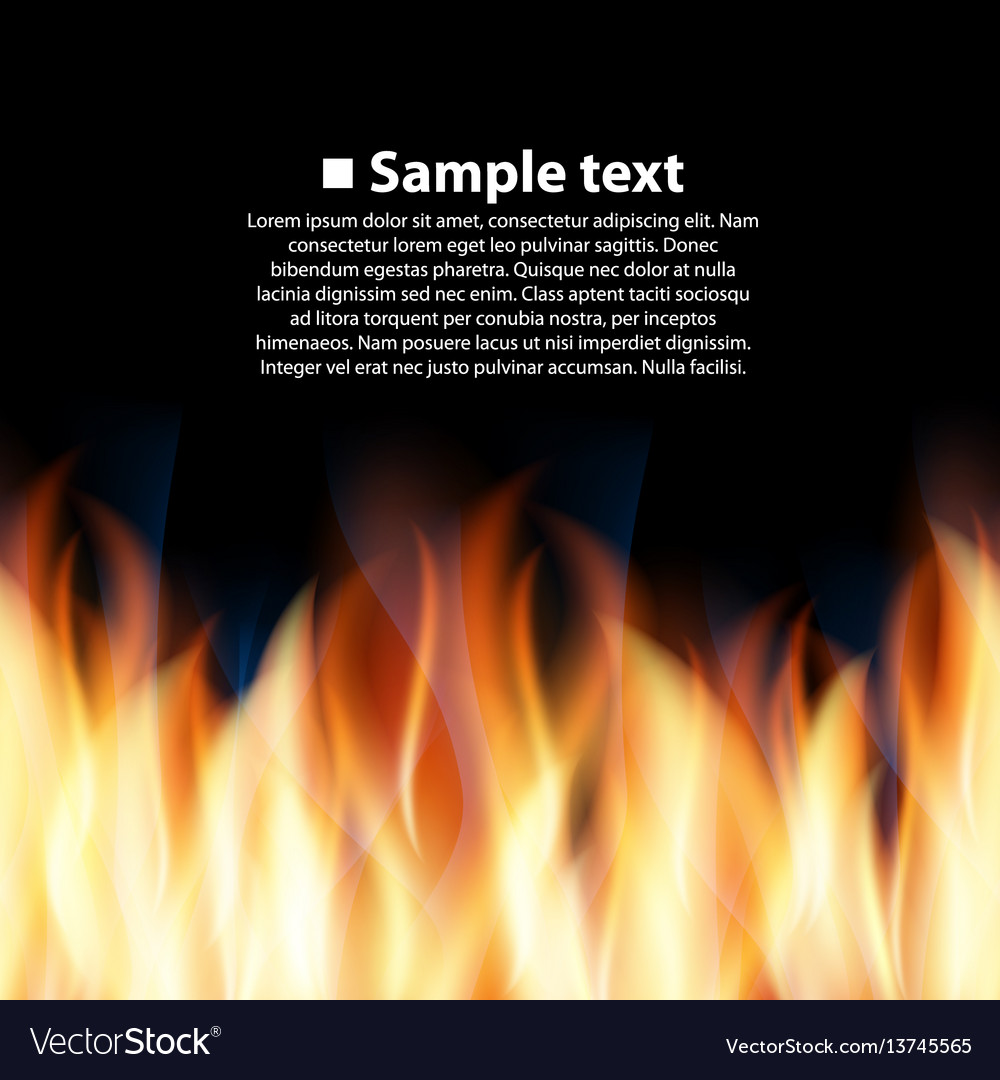 Seamless background with flame vector image