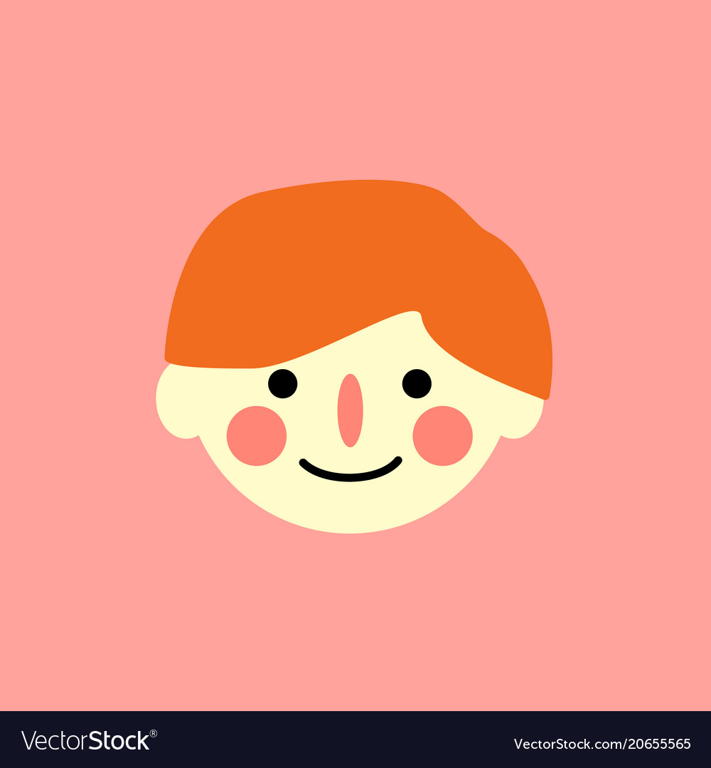 The boy s face is a simple child s drawing vector image