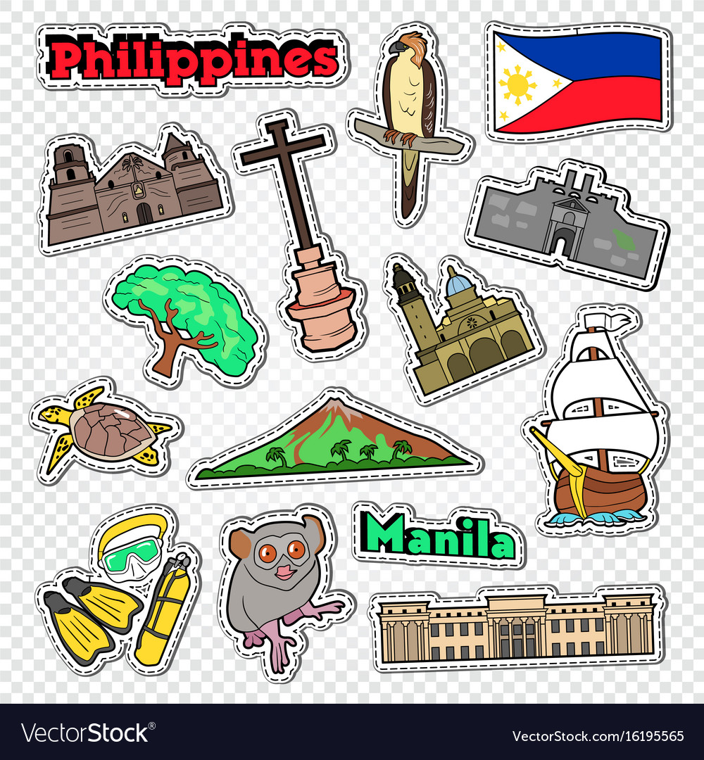 Travel to philippines stickers badges