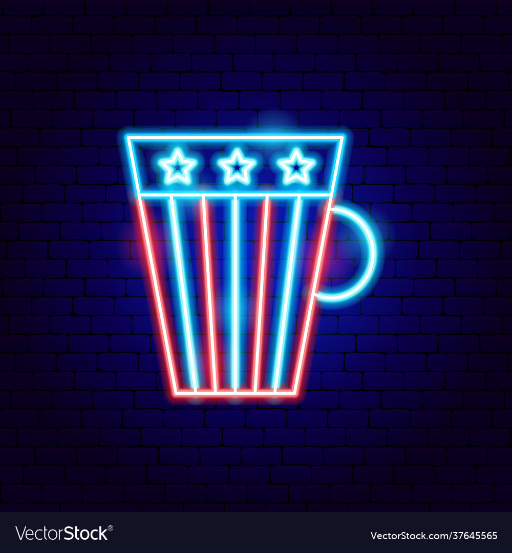 Usa cup neon sign