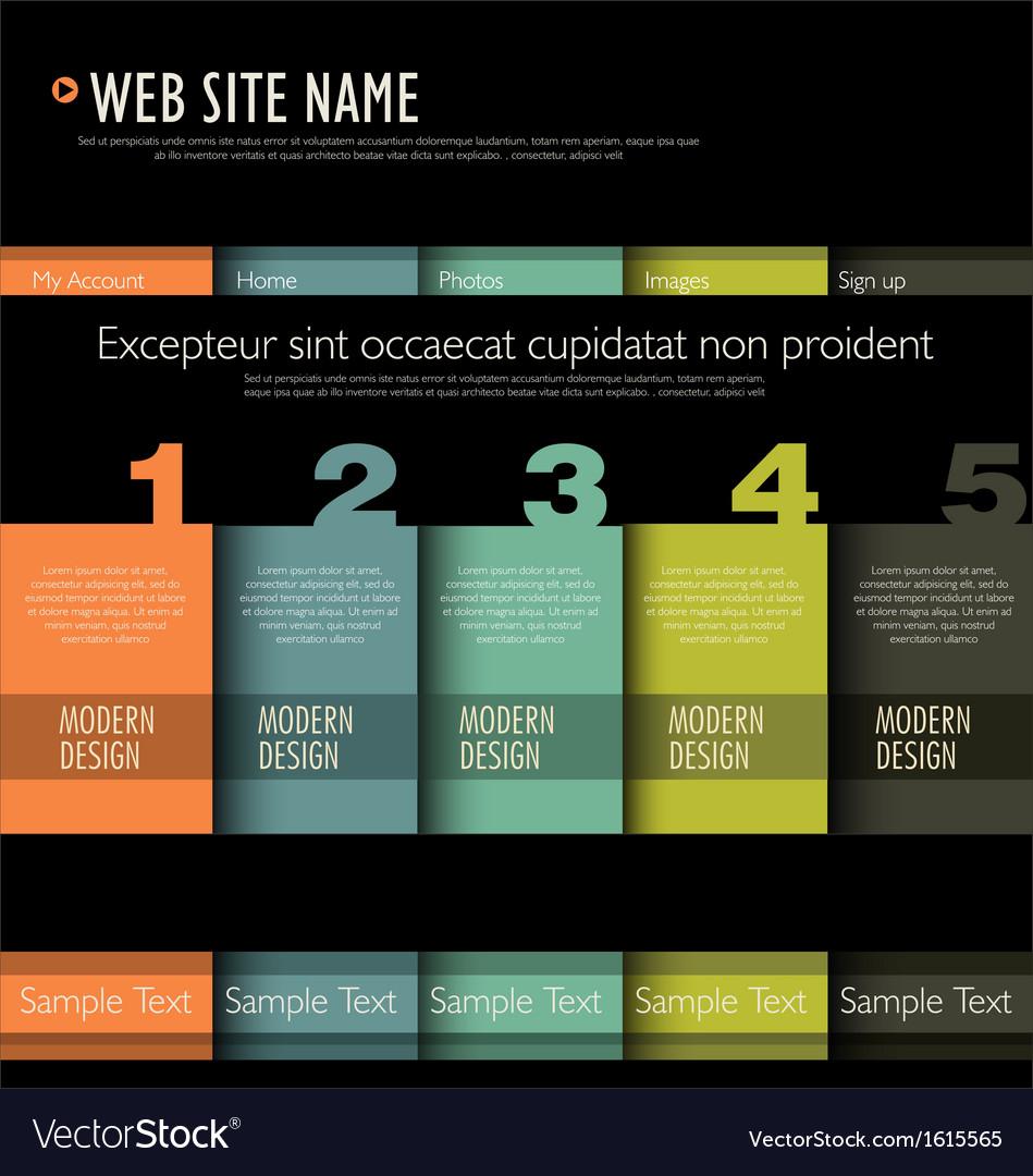 Web site design template vector image
