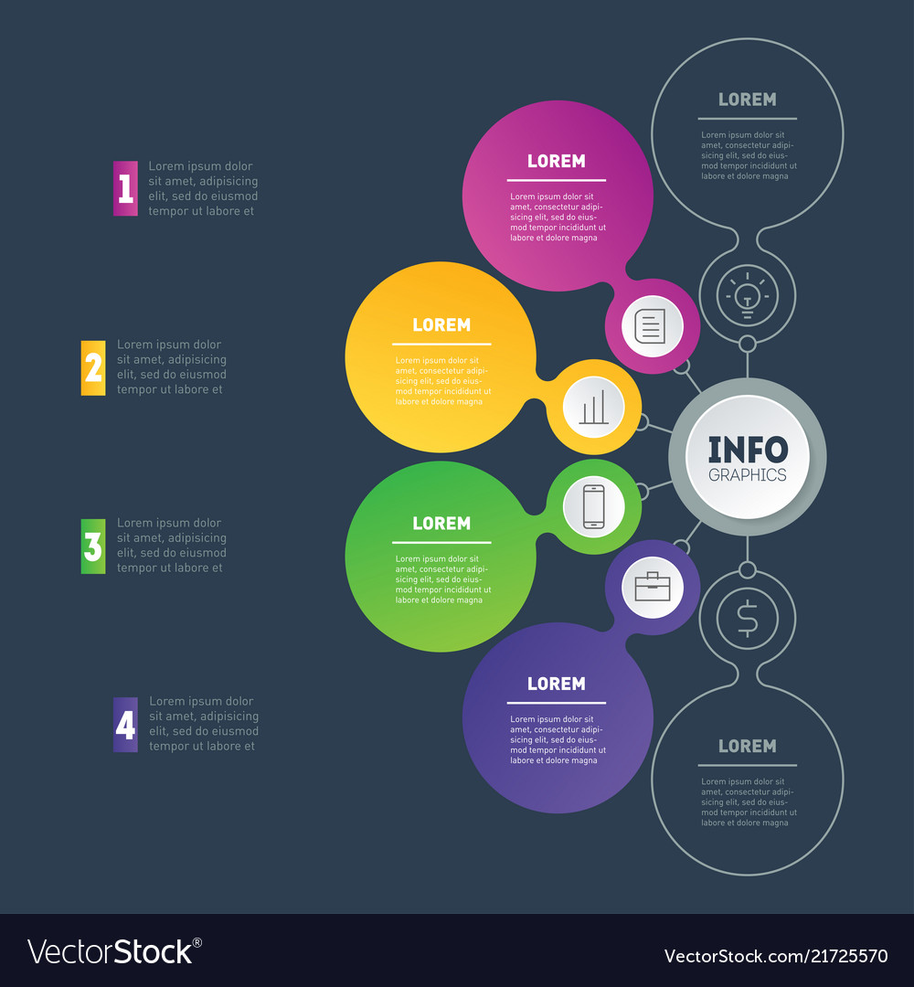 Business presentation or infographic with 4