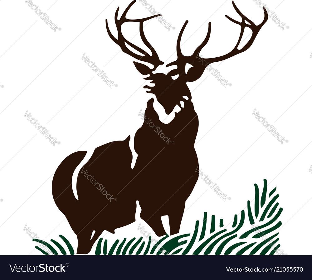 Deer and grass portrait