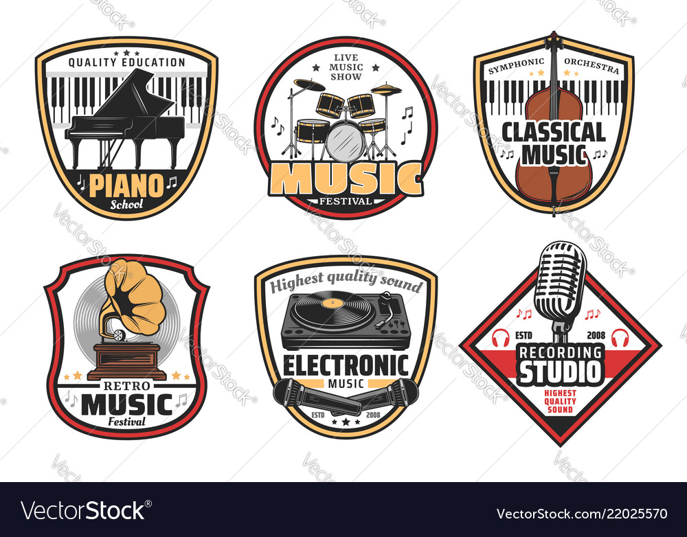 Electronic retro and classic music icons