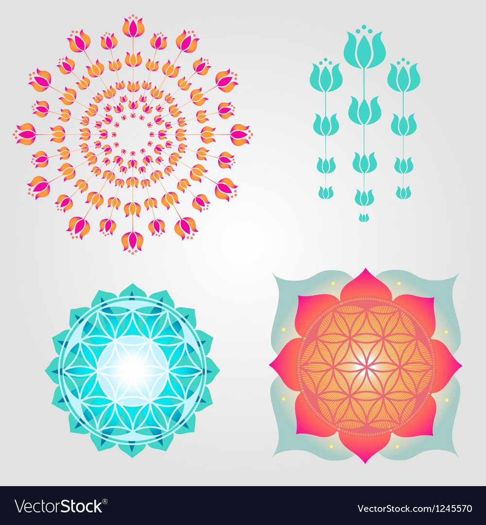Floral icons designs