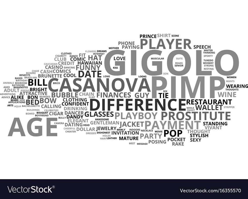 Gigolo word cloud concept