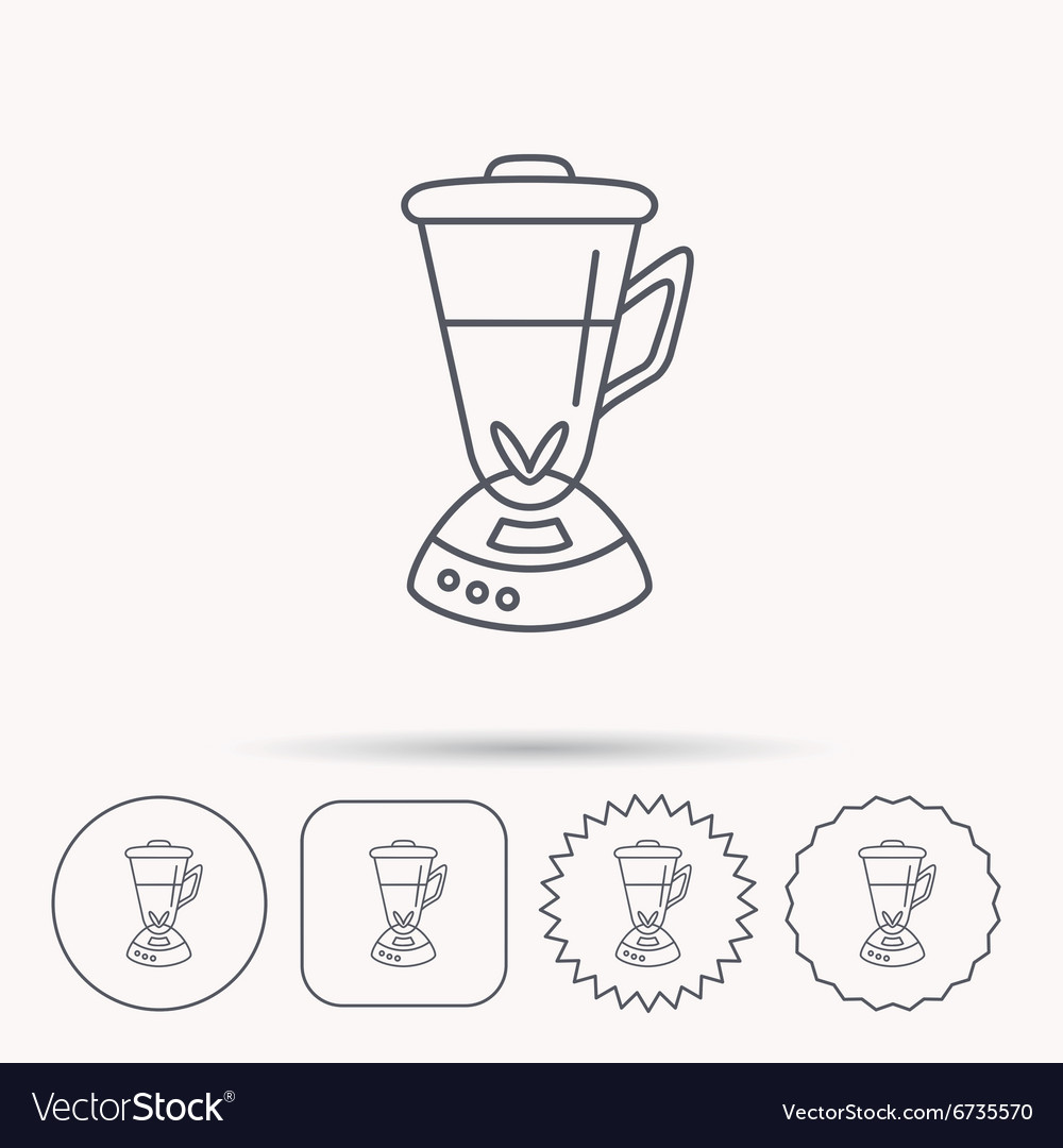 Mixer icon Blender sign